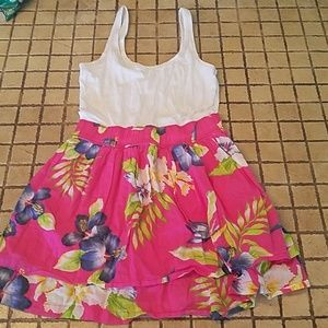 Hollister Floral Tank Dress Size Medium